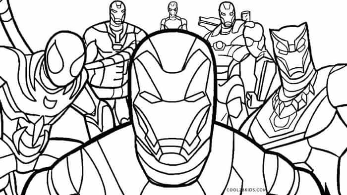 Avengers Coloring Pages For Kids Avengers Coloring Pages Unicorn Coloring Pages Avengers Coloring