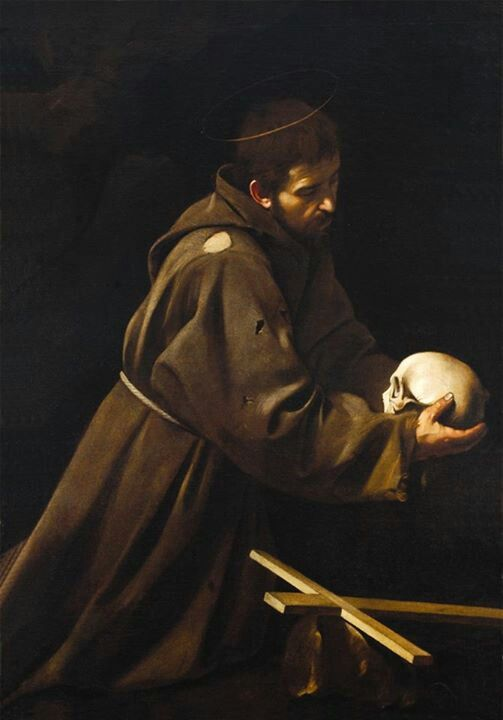 Emotionalism: St. Francis in Meditation by Caravaggio