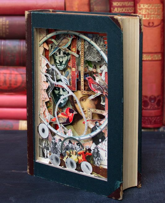 Alexander Korzer-Robinson, 37, cuts out the illustrations from Victorian novels and history books and pieces them together to create magical collages.