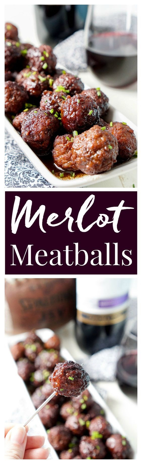 Merlot Meatballs. Delicious and fun for a wine-themed birthday party or dinner party.