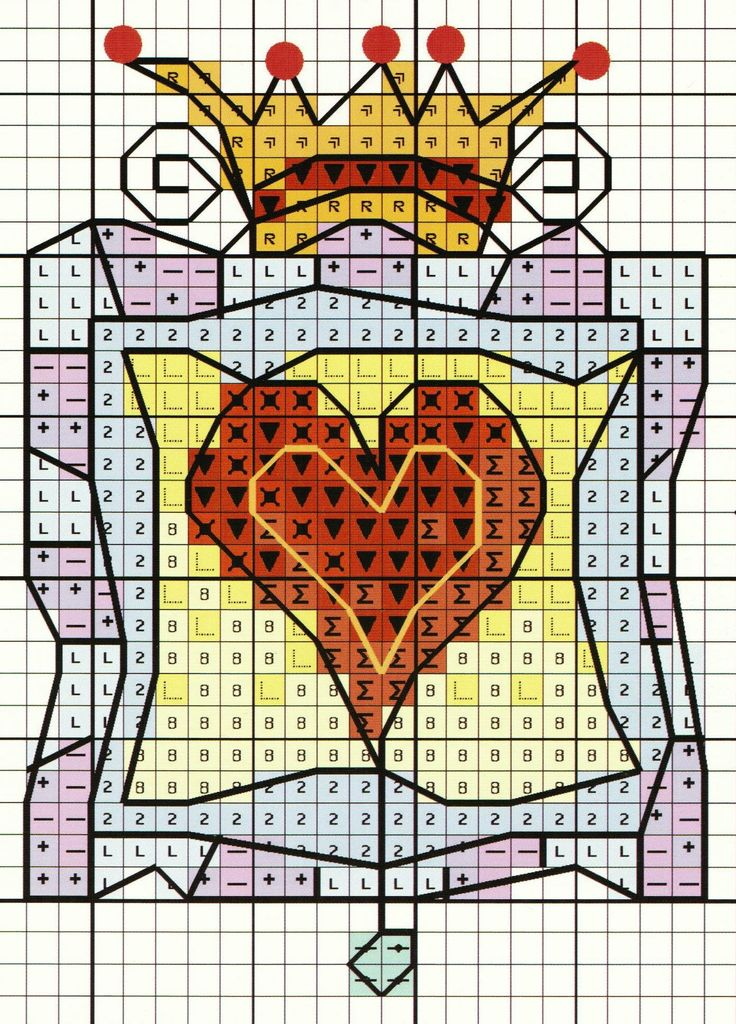 'Queen of Hearts' from Michael Powell's 'Mini Cross Stitch' book (paperback, pub. Search Press). There are twenty to make and they are all very quirky and appealing. I have made most of the pictures in this book for someone or other and they are a real pleasure to work on.