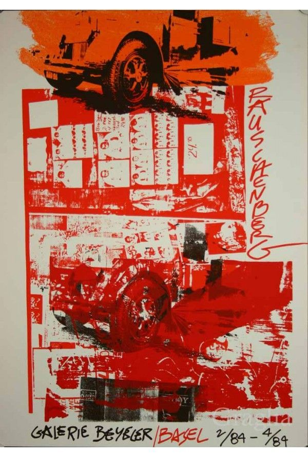 Affiche originale Rauschenberg, Galerie Beyeler, Basel