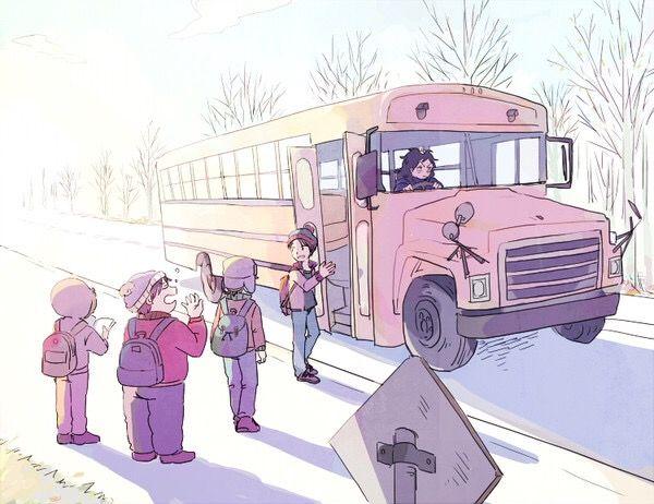 The Boys ~ bus stop