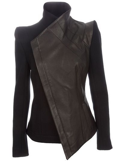 Black wool & leather jacket from Todd Lynn