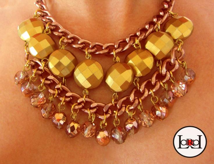 LARA ART Pink Glow necklace