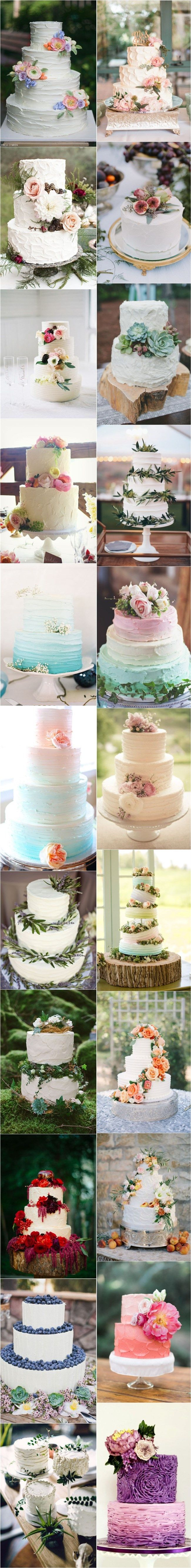 25 Buttercream Wedding Cakes We�d (Almost) Kill For (with Tutorial) | http://www.deerpearlflowers.com/25-buttercream-wedding-cakes-wed-almost-kill-for-with-tutorial/