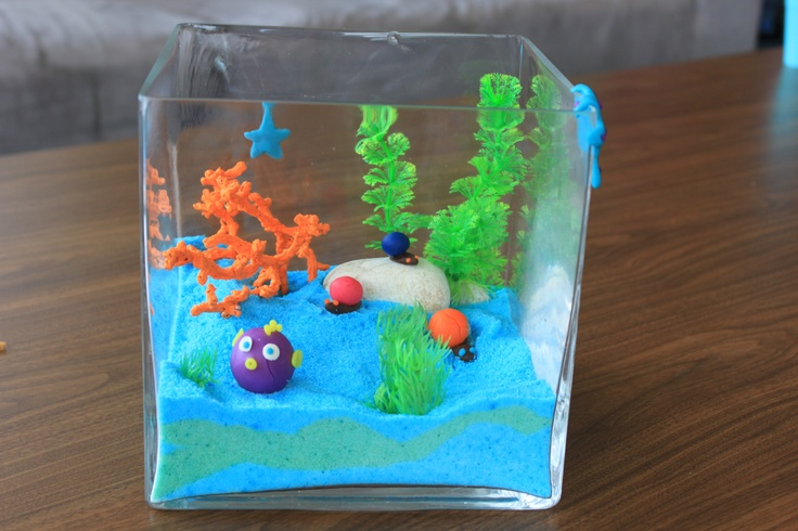 Under the sea themed centerpiece for Rachel's baby shower