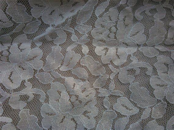Ecru White Lace Fabric Peony Lace Fabric Beautiful Off White