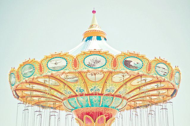 I See Happiness by JoyHey, via Flickr. #carousel #fair #carnival #ride #pastel