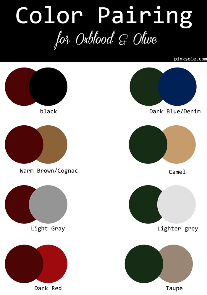 fall-color-palette-color-pairind-dark-red-merlot-oxblood-burgundy-olive