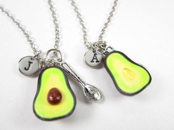 Besten Freund Avocado erste Halskette personalisierte von fwirl