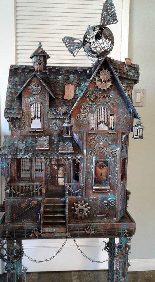 Steampunk dolls house - why be conventional?  https://minimumworld.com/