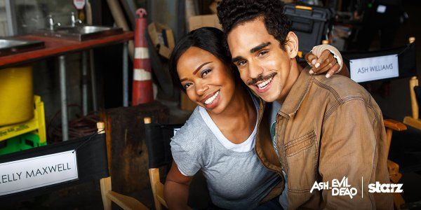 Jill Marie Jones & Ray Santiago behind the scenes on Ash vs Evil Dead