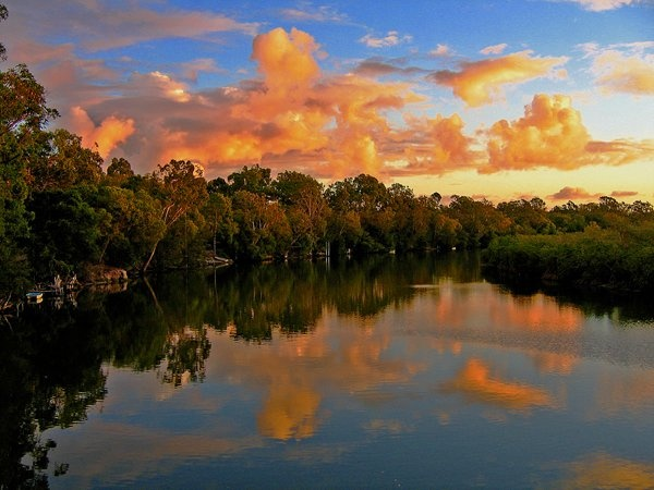 Weyba Creek sunset, sunshine coast, Australia - photo by Bruce Porter