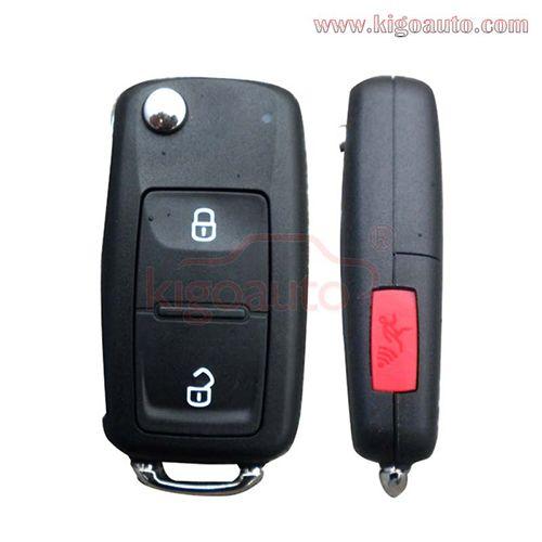 5K0837202R flip remote Key shell NBG010180T for VW GTI Tiguan 2014