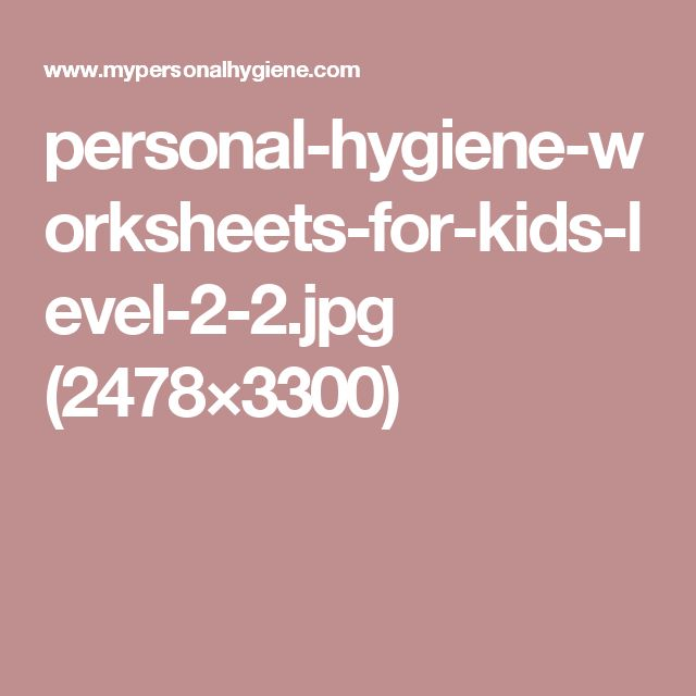 personal hygiene report level 2 health Tennessee health education standards 6-8  at level 2, the student will be able to:  21 identify and evaluate basic personal hygiene habits 22 analyze the .