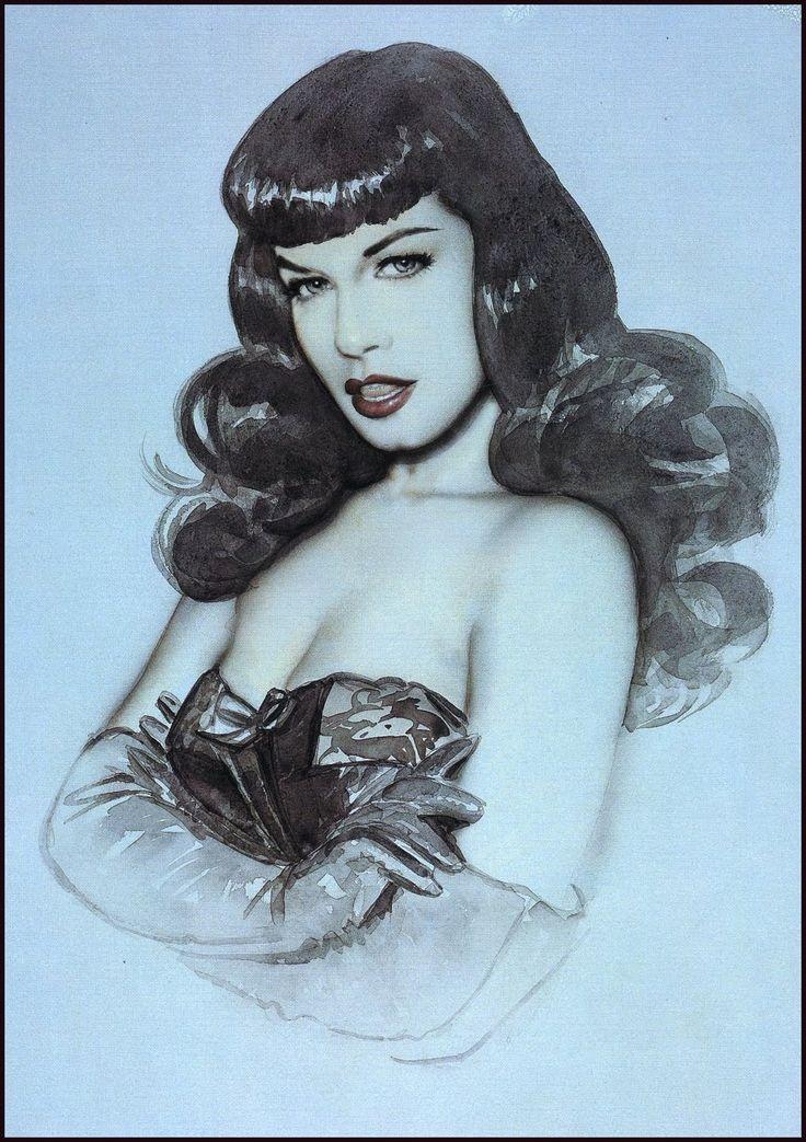 Bettie Page Art Wallpaper