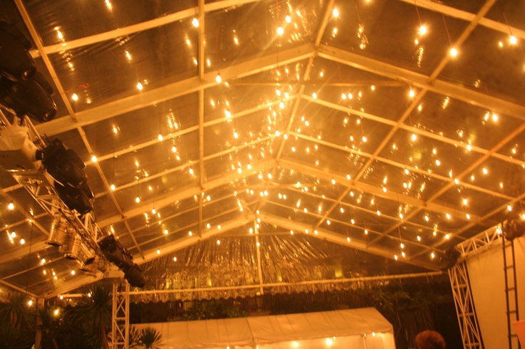 Hundred Festoon lights under the marquee set up by Dekor Indonesia at Pullman Resort Bali - see http://www.dekorindonesia.com