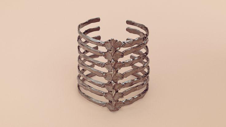 BJØRG - After Eden / Short Spine Cuff, Black Silver