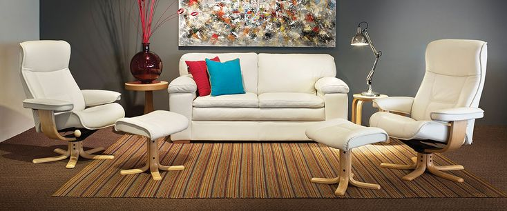 Incredible value from IMG! Includes the Portsea 2.5 seater leather sofa with matching large Oslorecliner and footstool plus standard size Oslorecliner and footstool. Available in a choice of Leather colours: Havana, White and Latte.