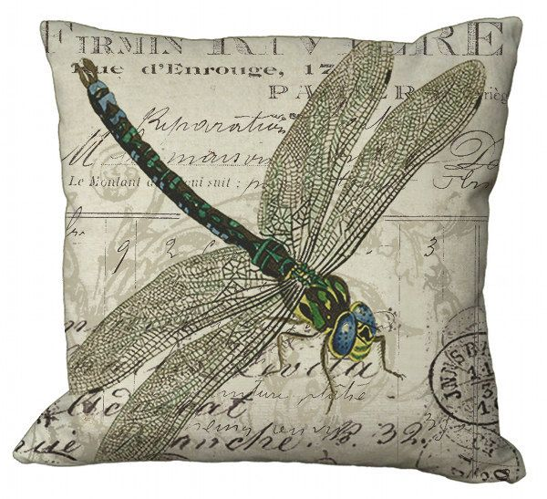dragonfly pillow cover accent