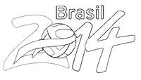 Kleurplaat Brasil 2014
