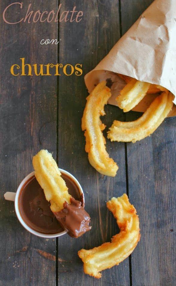 LA CUINERA: Como hacer churros en casa (chocolate con churros)