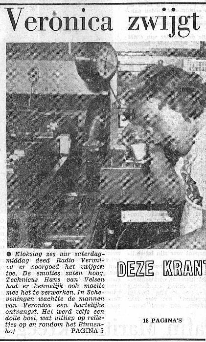 19740902 leids dagblad Ver afscheid piratenzenders 1