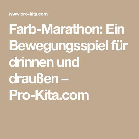 Farb-Marathon: Ein Bewegungsspiel für drinnen und draußen – Pro-Kita.com