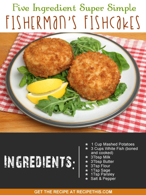 My five ingredient super simple fisherman's fishcakes