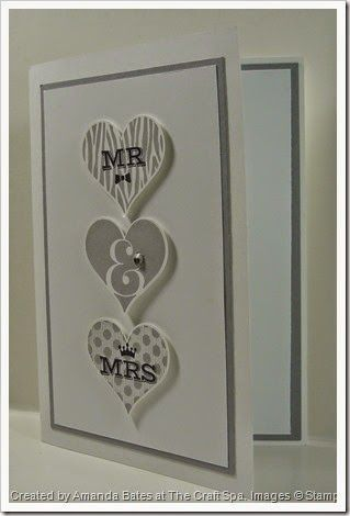 CAS Groovy Love Mr & Mrs wedding card , Created by Amanda Bates at The Craft Spa