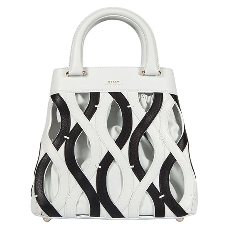 Unique designer bag by #Bally, great black & white patterns! #BlackAndWhite #Fashion #Trend