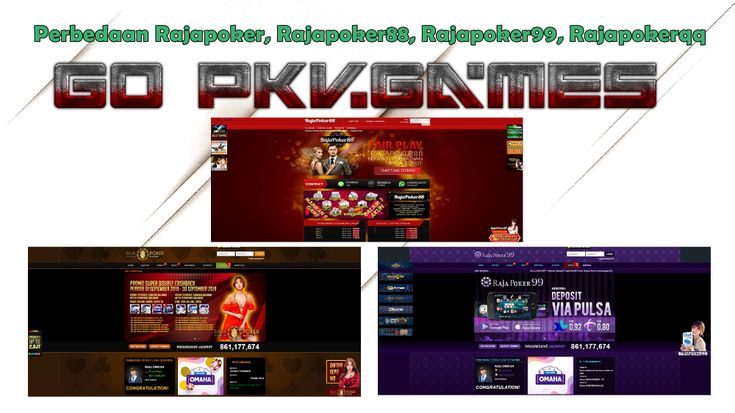 Perbedaan Rajapoker Rajapoker88 Rajapoker99 Rajapokerqq Banyaknya Situs Dominoqq Dan Poker Online Di Internet Indonesia Membuat P Poker Internet Indonesia
