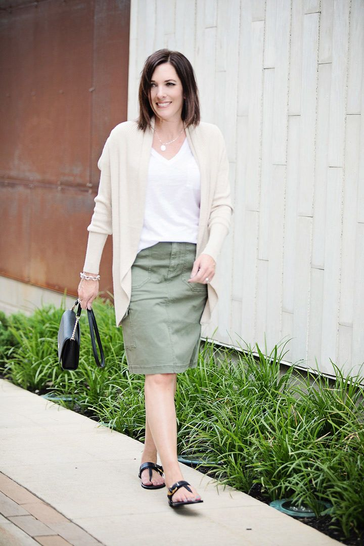 9dd3e4527d95 Wear Now   Later  Olive Cargo Skirt Outfit