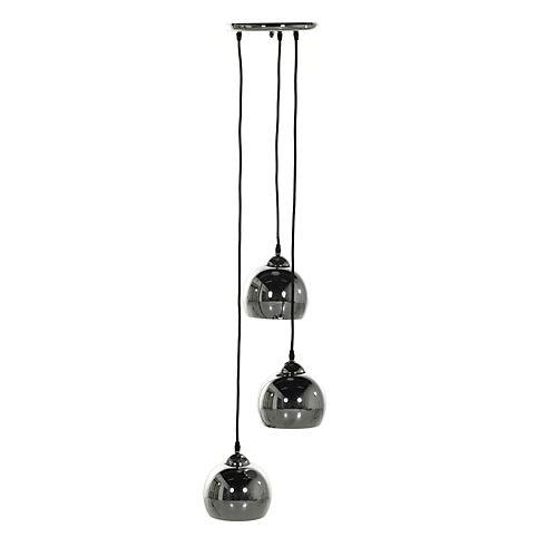 Bling - Suspensions, Lustres-Luminaires Suspension à 3 lumières en métal chromé H100cm