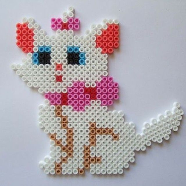 Marie Aristocats perler beads by imbpixel