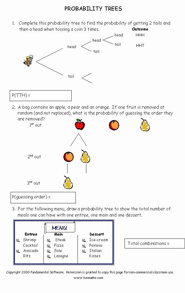 Probability Worksheet High School Inspirational Free Math Worksheet From Probability Worksheets Free Math Worksheets Free Math