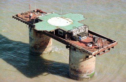 The Principality of Sealand--micronation off the coast of Great Britain