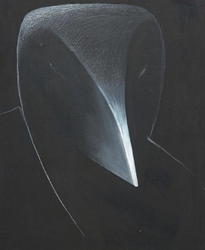 Gino De Dominicis - Volto - Tecnica mista su tavola - cm. 43x36,5