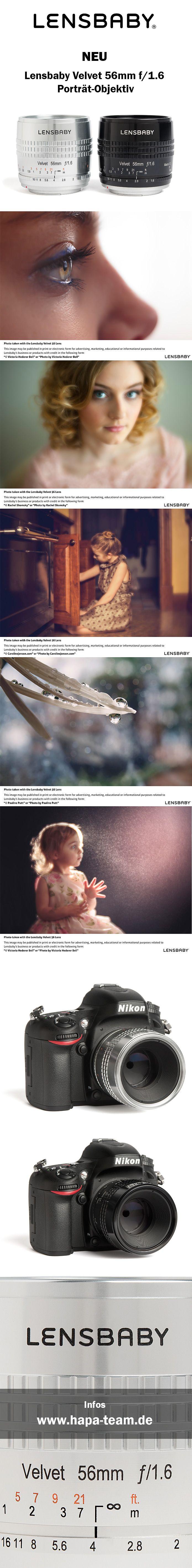 NEU:  #Lensbaby Velvet 56mm f/1.6 Porträt-Objektiv. Infos: www.hapa-team.de