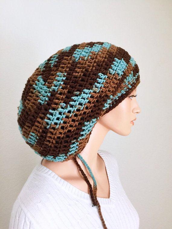 Mega Camo Dread Tam/ Crochet Dreadlocks Tam/ Camouflage Mega