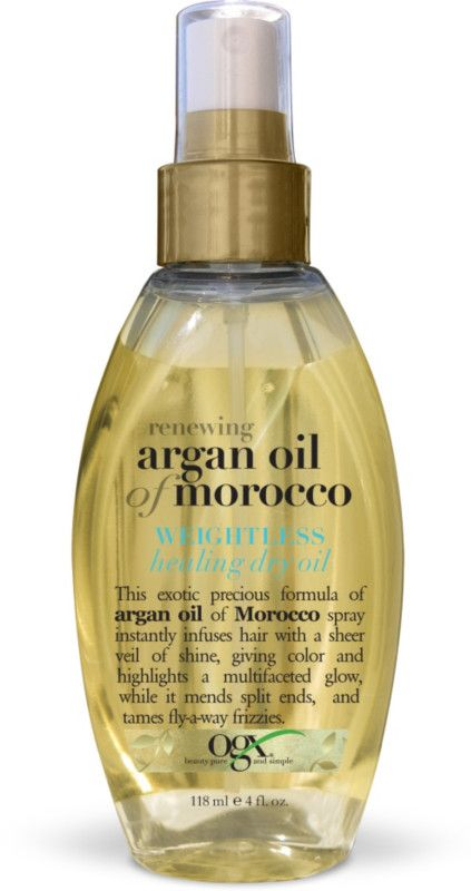 OGX Renewing Argan Oil Of Morocco Weightless Healing Dry Oil Ulta.com - Cosmetics, Fragrance, Salon and Beauty Gifts//Use as heat protectant