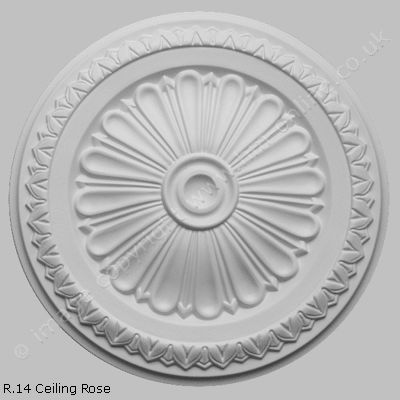 R 14 Ceiling Rose - Large and Small Decorative Plaster Ceiling Roses - House Martin Online