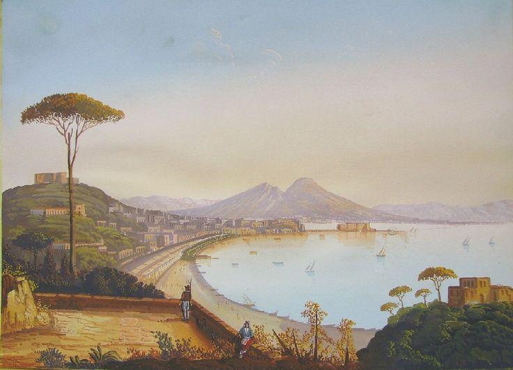 anonimo - Napoli, Sec. XIX - Napoli da Posillipo