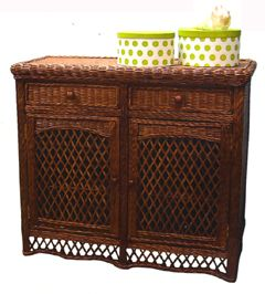 Rattan and Wicker TV Cabinets, TV Armoires, Etegeres, Tropical Display Stands, Wall Units