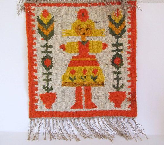 M.Domanska tapiz de pared // Años 60 Kilim por tiendanordica