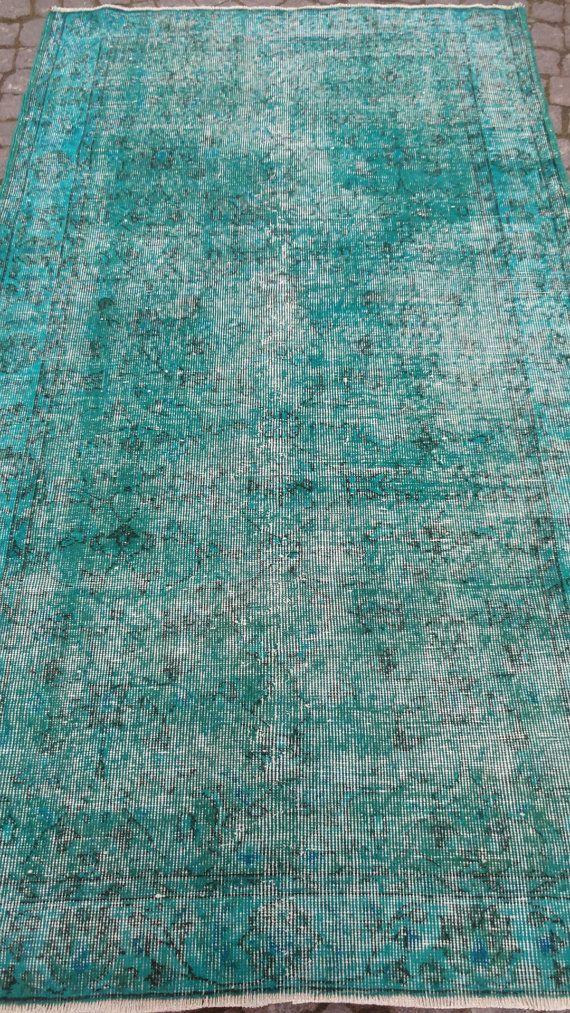390x679 119x207cm Turquoise Overdyed Rug