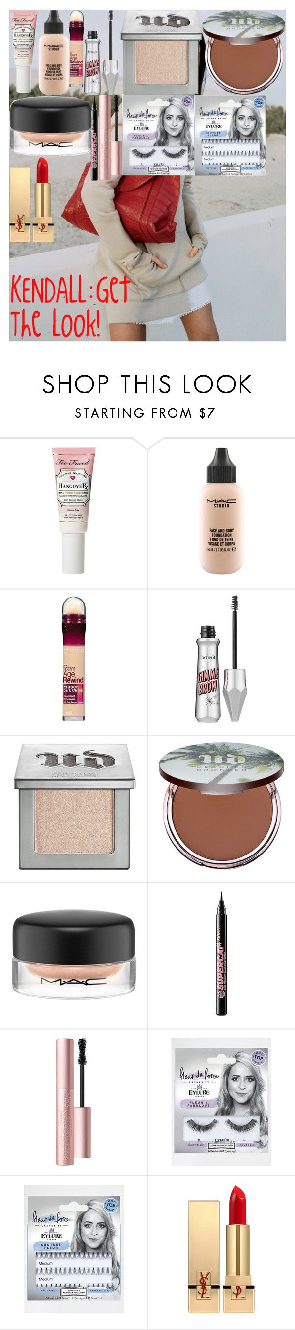 """""""KENDALL:Get The Look!"""" by oroartye-1 on Polyvore featuring beauty, Angelo, Power of Makeup, MAC Cosmetics, Maybelline, Benefit, Urban Decay, Soap & Glory, Too Faced Cosmetics and eylure"""