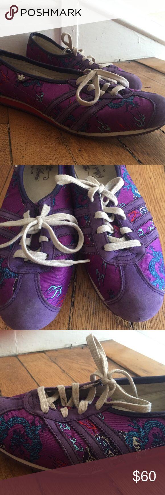 Adidas sleek series year of the dragon tennies Super rad purple year of the dragon Adidas low cut tennies Adidas Shoes Sneakers