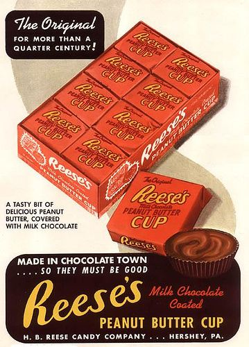 1950's Ad for Reese's Peanut Butter Cup